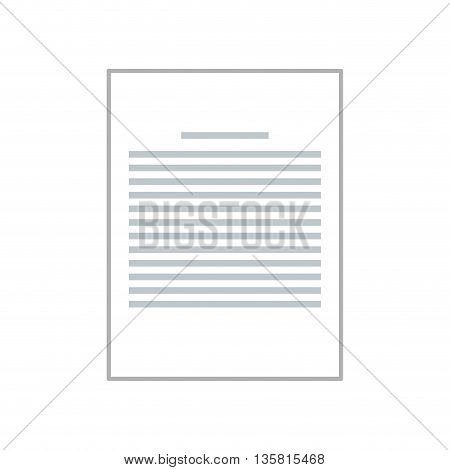 simple flat design sheet of paper with lines on it vector illustration