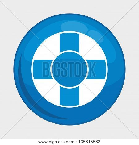 Social Media button represented by float multimedia app . Colorfull and isolated illustration