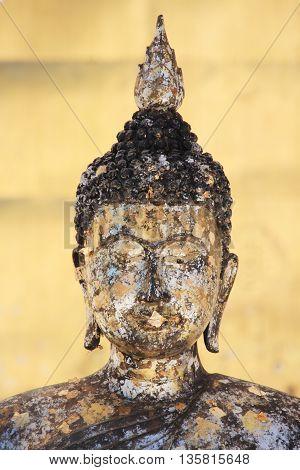Buddha image at a temple in Nan,Thailand