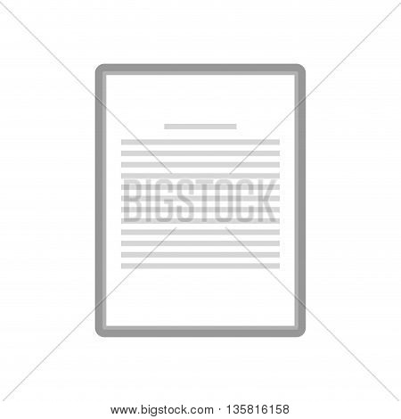 simple grey sheet of paper with lines on it vector illustration