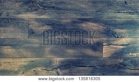 Wooden background. Abstract dark wood rustic texture. Vintage style toned picture
