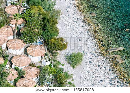 Aeral View Of Sicilian Beach