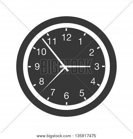 simple flat design wall clock icon vector illustration