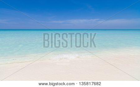 Dreamlike beach in Cuba with turquoise water