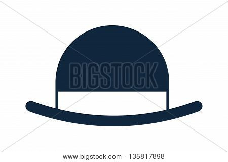 blue simple flat design of vintage hat vector illustration