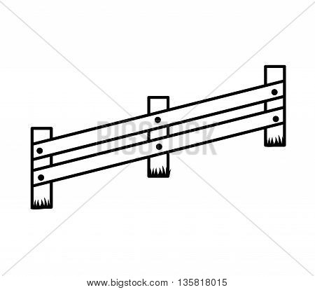 Barrier concept represented by fence icon. isolated and flat illustration