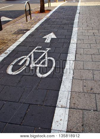 City bicycle bikes lane great urban transportation solution