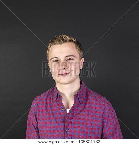 Portrait Of Cute Smiling Teenage Boy