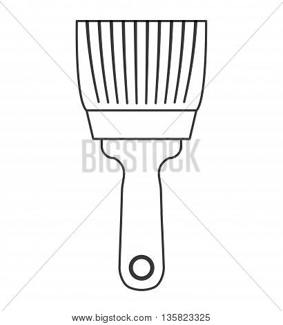Tool concept represented by paint brush icon. isolated and flat illustration