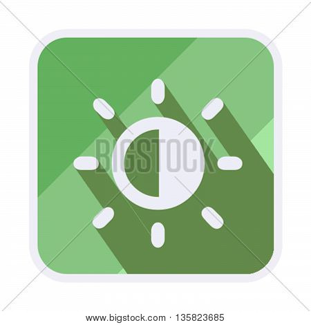 This is brightness squared icon with green and white color.