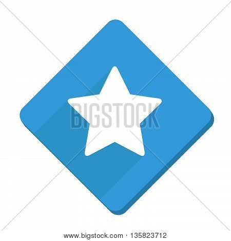 This is star squared icon with blue and white color.