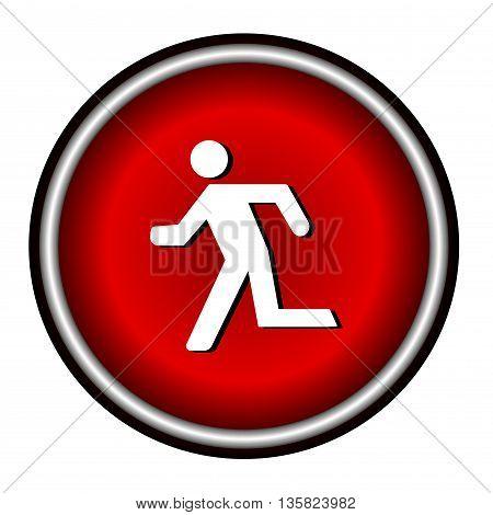 Running man icon on white background, vector illustration