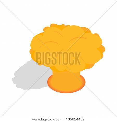 Nuclear explosion icon in isometric 3d style on a white background