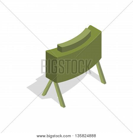 Military mine icon in isometric 3d style on a white background