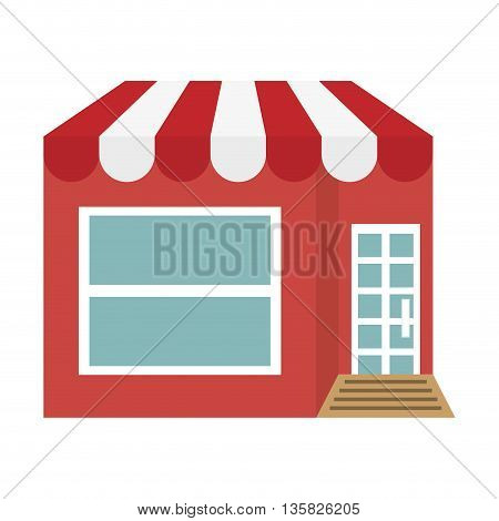 Store concept represented by classic shop icon. isolated and flat illustration