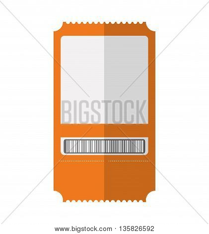 Basketball concept represented by ticket icon. isolated and flat illustration