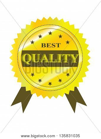 Best Quality Guaranteed Label isolated on a white background