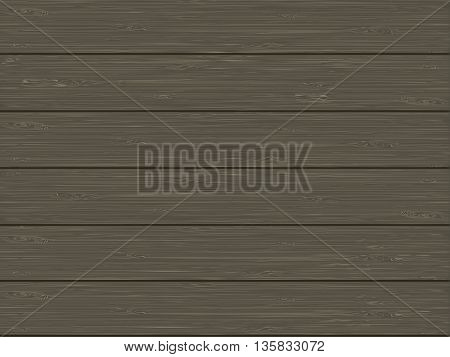 Natural wooden texture of gray-brown color. vector illustration