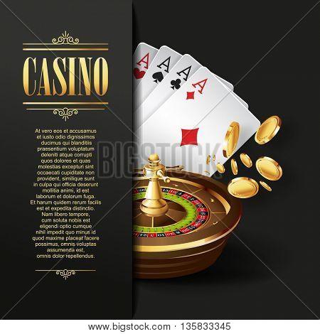 Casino background. Gambling illustration.