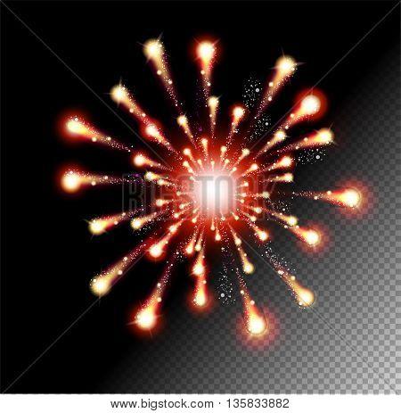 Festive  Firework Salute Burst