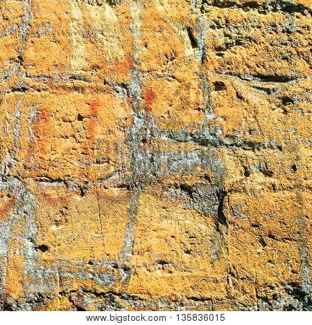 Old Grunge Brick Wall Background. Grungy Concrete Surface. Great Background Or Texture.