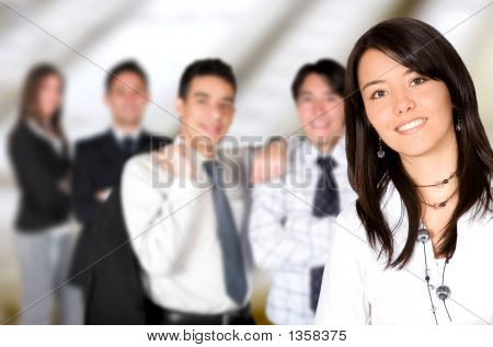 Business Team Lead By A Business Woman