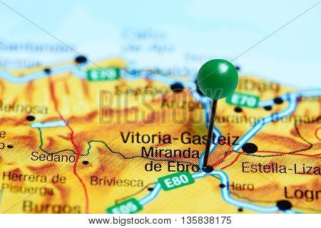 Miranda de Ebro pinned on a map of Spain