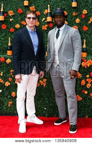 JERSEY CITY, NJ - MAY 30: Actor Joseph Sikora (L) and Curtis Jackson, aka 50 Cent attend the 8th Annual Veuve Clicquot Polo Classic at Liberty State Park on May 30, 2015 in Jersey  City, New Jersey.
