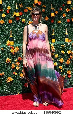 JERSEY CITY, NJ - MAY 30: Delfina Blaquier attends the 8th Annual Veuve Clicquot Polo Classic at Liberty State Park on May 30, 2015 in Jersey  City, New Jersey.