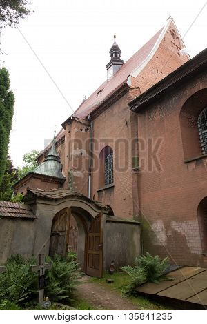 Historical, eight hundred year old convent, the nuns of the Benedictine abbey, Staniatki near Krakow in Poland