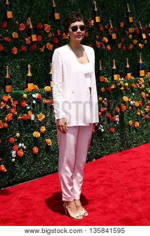 JERSEY CITY, NJ - MAY 30: Actress Maggie Gyllenhaal attends the 8th Annual Veuve Clicquot Polo Classic at Liberty State Park on May 30, 2015 in Jersey  City, New Jersey.