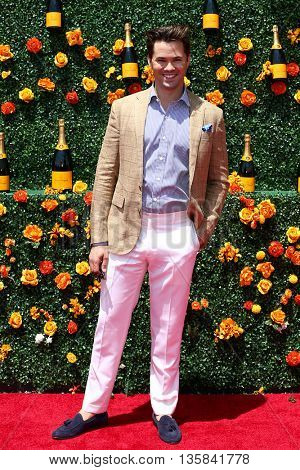 JERSEY CITY, NJ - MAY 30: Actor Andrew Rannells attends the 8th Annual Veuve Clicquot Polo Classic at Liberty State Park on May 30, 2015 in Jersey  City, New Jersey.