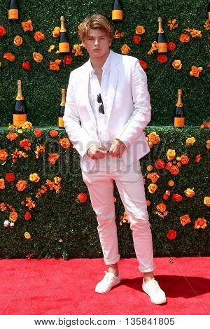 JERSEY CITY, NJ - MAY 30: Model Jordan Barrett attends the 8th Annual Veuve Clicquot Polo Classic at Liberty State Park on May 30, 2015 in Jersey  City, New Jersey.