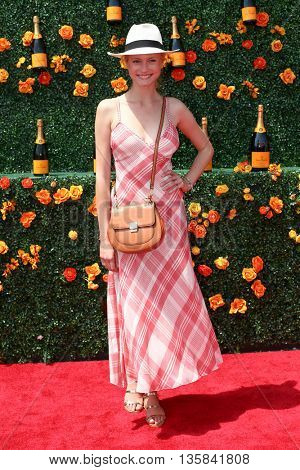 JERSEY CITY, NJ - MAY 30: Model Charlotte Di Calypso attends the 8th Annual Veuve Clicquot Polo Classic at Liberty State Park on May 30, 2015 in Jersey  City, New Jersey.