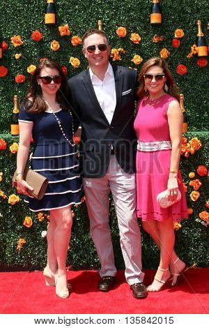 JERSEY CITY, NJ - MAY 30: (L-R) Dustee Tucker Jenkins, Justin Tucker Jenkins and Ashley Novak attend the Veuve Clicquot Polo Classic at Liberty State Park on May 30, 2015 in Jersey  City, New Jersey.