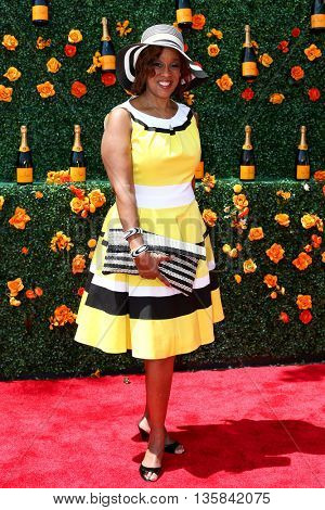 JERSEY CITY, NJ - MAY 30: TV personality Gayle King attends the 8th Annual Veuve Clicquot Polo Classic at Liberty State Park on May 30, 2015 in Jersey  City, New Jersey.