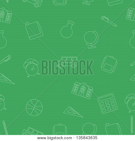 Seamless pattern School and Education. Vector illustration