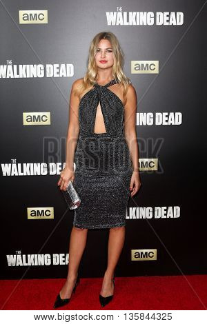 NEW YORK-OCT 9: Model Jennifer Akerman attends AMC's 'The Walking Dead' season six premiere at Madison Square Garden on October 9, 2015 in New York City.