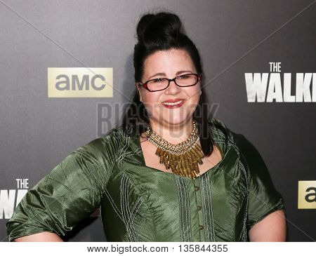 NEW YORK-OCT 9: Actress Ann Mahoney attends AMC's 'The Walking Dead' season six premiere at Madison Square Garden on October 9, 2015 in New York City.