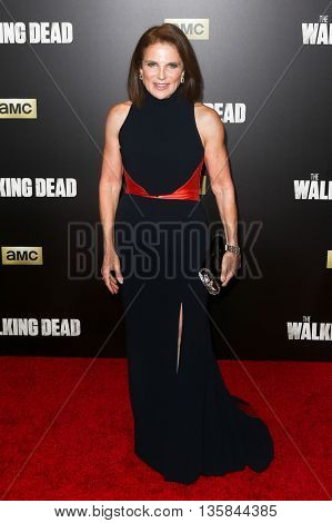 NEW YORK-OCT 9: Actress Tovah Feldshuh attends AMC's 'The Walking Dead' season six premiere at Madison Square Garden on October 9, 2015 in New York City.