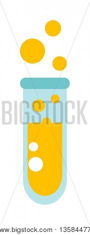Flask with liquid vector illustration.