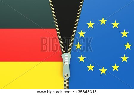 Germany and EU relation concept. 3D rendering