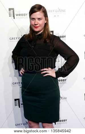 NEW YORK, NY - MAY 18: Filmmaker Erin Lee Carr attends the 19th Annual Webby Awards at Cipriani Wall Street on May 18, 2015 in New York City.