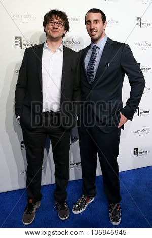 NEW YORK, NY - MAY 18: Octavian Costache (L) and Co-Founder and CEO of Spring Alan Tisch attend the 19th Annual Webby Awards at Cipriani Wall Street on May 18, 2015 in New York City.
