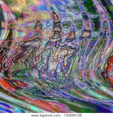 Abstract red coloring background of the pastels gradient with visual twirl,wave,cubism and plastic wrap effects,good for your design