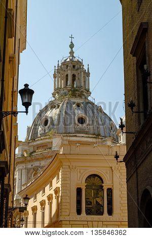 Church of Santa Maria di Loreto in Rome Italy
