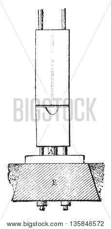 Apparatus Quinan, vintage engraved illustration. Industrial encyclopedia E.-O. Lami - 1875.
