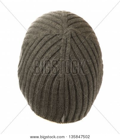 Knitted  Beanie Isolated On White Background