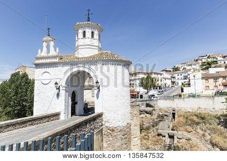 la Virgen bridge over Cubillas River in Pinos Puente town, Granada, Spain