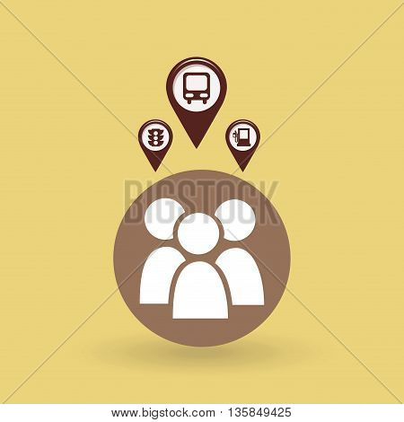 gps service design, vector illustration eps10 graphic